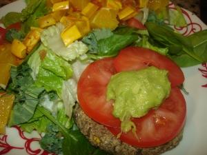 Adzuki beurger with salad