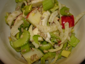 Crunchy Apple Celery Sunflower Salad
