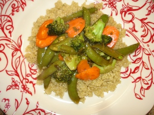 Quinoa with Saucy Veg