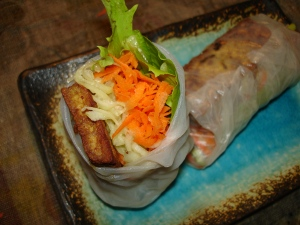 Spring Rolls with Curried Tofu