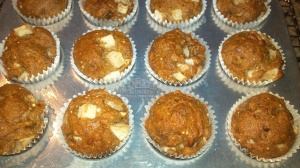 Apple Walnut Mini Muffins