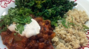 black chickpeas in Spiced Tomato Sauce