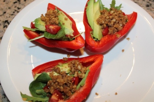 Taco Bell Peppers with Raw Nut Meat