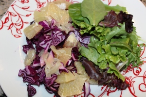 Red Cabbage, grapefruit and ginger Salad