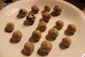coconut almond cookie dough bites